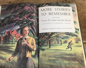 Vintage book, More Stories to Remember selected by Thomas B Costain and John Beecroft Volume II 1958, vintage book, mid century book
