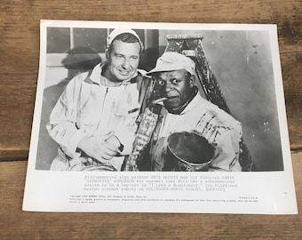 Vintage publicity photo for I Love a Bandleader, vintage Hollywood black and white photo with Phil Harris and Eddie Rochester Anderson, pic
