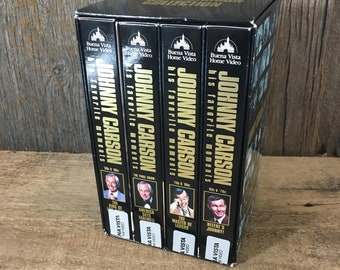 The Johnny Carson Collection, box set of four Johnny Carson VHS's, Johnny Carson fan gift, The tonight show video collection, Here's Johnny