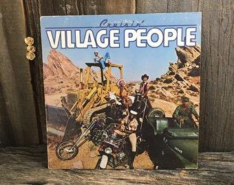 Village People vintage vinyl record album, YMCA by the Village People, 1978 Village People Cruisin record album, 1970's vinyl records,