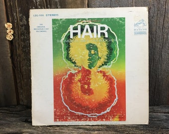 Hair The American Tribal Love Rock Musical, 1968 Hair vinyl record album, Michael Butler presents Hair the soundtrack album from 1968