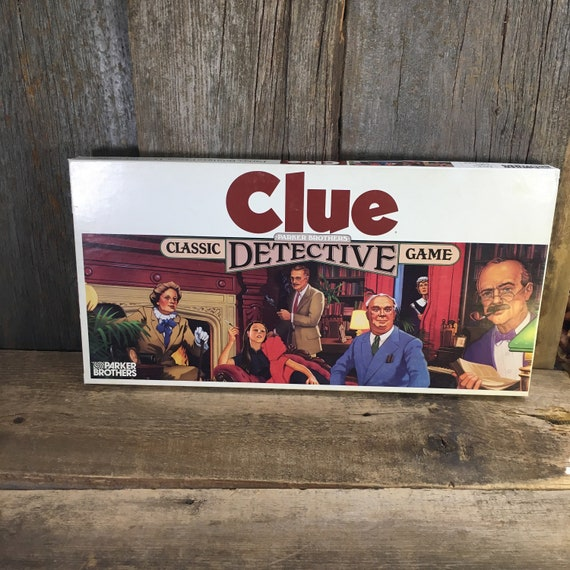 Vintage Clue game from 1986, complete Clue game for family fun night, vintage games great memories, Clue game from Parker Brothers
