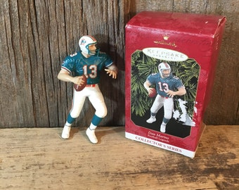 Miami Dolphins Dan Marino Christmas ornament, football collectible, Hallmark Keepsake ornament collectible, Dan Marino collectible,