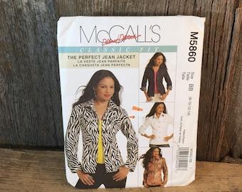 McCalls M5860 sewing pattern, 2009 McCalls Palmer Pletsch, misses unlined jacket sewing pattern, unlined jacket sewing pattern, McCalls