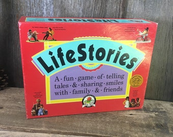 Vintage LifeStories game, great friends and family game, vintage Lifestoires game from 1992