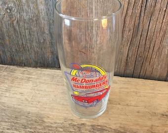 Vintage McDonalds Speedee Service System glass cup, Collectable McDonalds glass, McDonalds collector, 1995 McDonalds collector cup, Speedee
