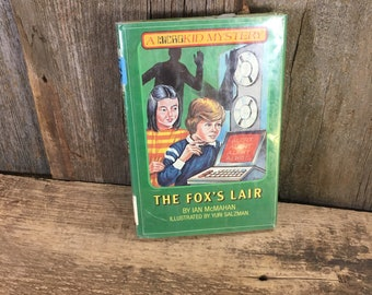 Vintage childrens book The Fox's Lair, copyright 1983, a microkid mystery series, vintage children's mystery book, Yuri Salzman