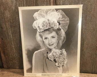 Vintage Photo headshot from 1943, Martha Scott head shot, old Hollywood photo, Hi Diddle Diddle photo, vintage actress head shot, Movie pic
