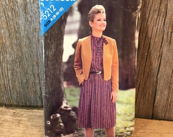 Butterick See and Sew 5212 vintage sewing pattern, See & Sew Butterick size 8-10-12 sewing pattern, jacket and dress sewing pattern