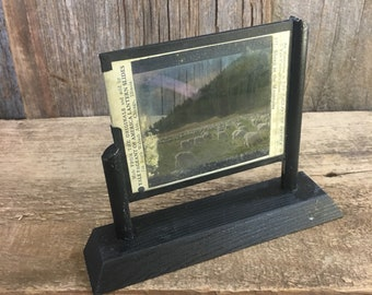 Vintage lantern slide of Sheep in the mountains, vintage pictures, unique decor, lantern slide decor, sheep decor