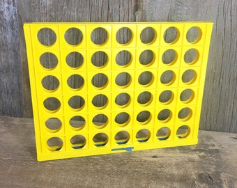 Vintage game replacement parts Connect Four1978 yellow grid, replacement grid for Connect four, 1978 Connect Four grid/tray only replacement