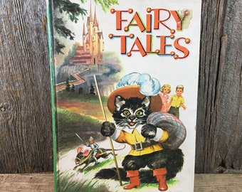 Fairy Tales from 1950 retold by Katharine Gibson Illustrated by Isabel Read, whitman Publishing,Fairy Tales MCML mid century childrens' book