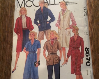 Vintage McCalls 8670 pattern, vintage pattern, vintage sewing pattern, vintage misses coat dress sewing pattern, vintage coat dress