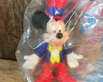 Vintage sealed in original packaging McDonalds Mickey Mouse toy figurine, Ronald McDonald Mickey and Friends, Happy Meal, Disney collectible
