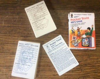 According To Professor Hoyle pocket trivia card game for kids series 7, vintage games, vintage learning games, travel games, 1984 game