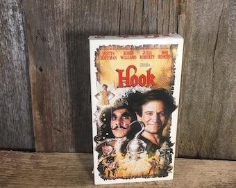 Vintage VHS movie, Hook vhs tape, vintage movies, Robin Williams movies, vintage vhs tape Hook, Dustin Hoffman movie, Julia Roberts movi