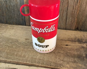 Vintage Campbells Soup Can-Tainer, Campbells thermos, Campbells collectibles, Campbells soup container, Campbells soup thermos, Campbells