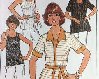 VIntage Simplicity 7900 uncut pattern from 1977, pattern for larger sizes, simple to sew Simplicity pattern, pattern for top and cardigan