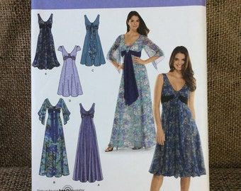 Simplicity 3785 sewing pattern from 2007, special occasion dresses, sew your own dress, dress sewing