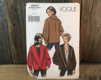 Vogue uncut sewing pattern V8431, uncut Vogue V4831, size 16-10 Vogue jacket pattern, McCalls Vogue pattern for jacket 2007, Vogue jacket