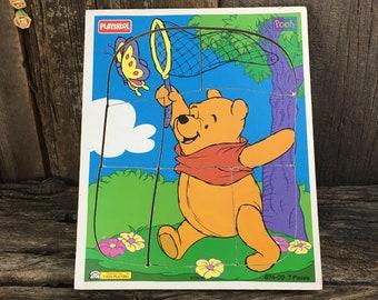 Vintage Disney Playskool Winnie the Pooh puzzle, vintage seven piece Winnie the Pooh puzzle, 674-09 puzzle, Winnie the Pooh Playskool puzzle