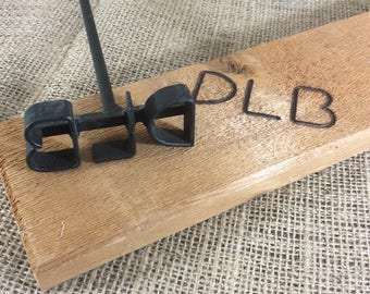 Vintage DLB branding iron, letters DLB for your branding iron needs, super hard to find if these are your intials