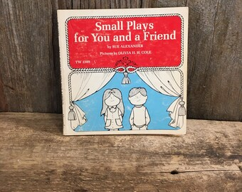 Small Plays for You and a Friend first printing 1973, vintage children's fun play book, vintage Scholastic book for children
