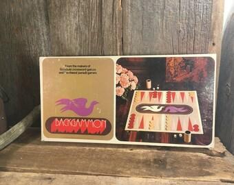 Vintage backgammon board game, 1970's board game, family game night board game, retro games,  old games, family night fun, family fun