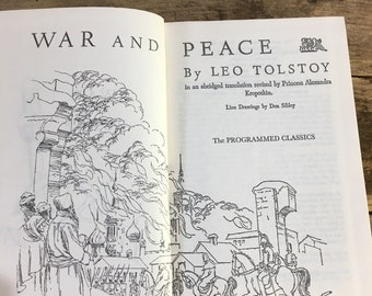 Vintage War and Peace by Leo Tolstoy 1960, the programmed classics