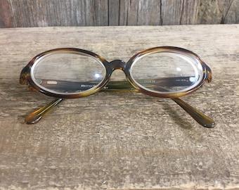 Vintage Filos Prestige frame from Italy egg eye shape 48-20, vintage mid century prescription glasses, egg eye shaped glasses from Italy
