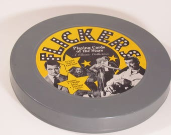 Vintage 1974 Flickers card game of the stars, bridge game of the old classics, vintage bridge game, vintage collectible movie memorabilia