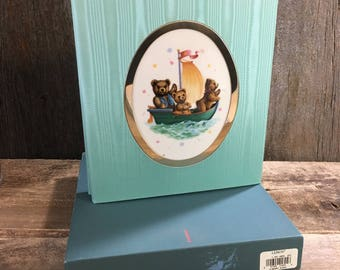 Lenox China Bears photo album, vintage from 1994 unused original box, China Bear Collections from Lenox, baby photo album, special baby gift