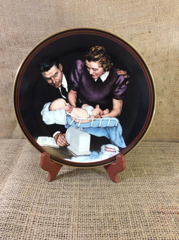 Vintage collectors plate Growing Strong Norman Rockwell, limited edition collectors plate Norman Rockwell The Ones We Love series from 1989