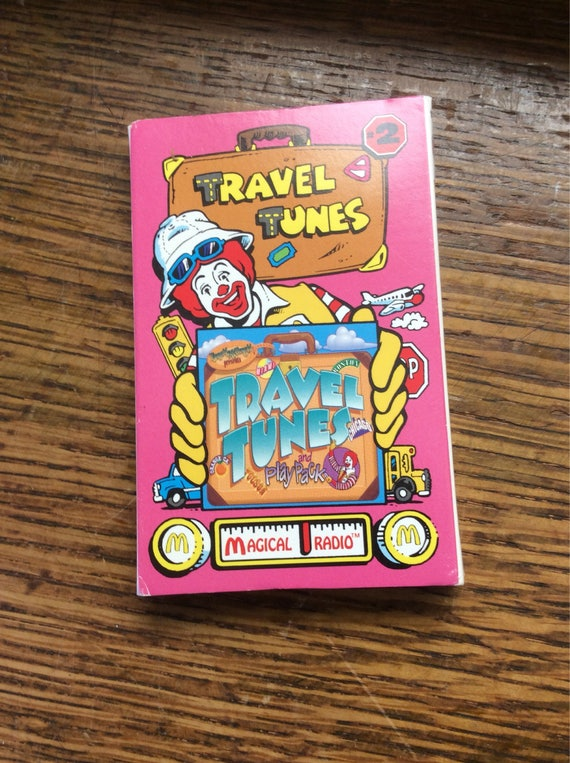 McDonalds 1995 Travel Tunes casssette, .75 US shipping, McDonald's collectibles, McDonlads music tape, Magic Funmobile