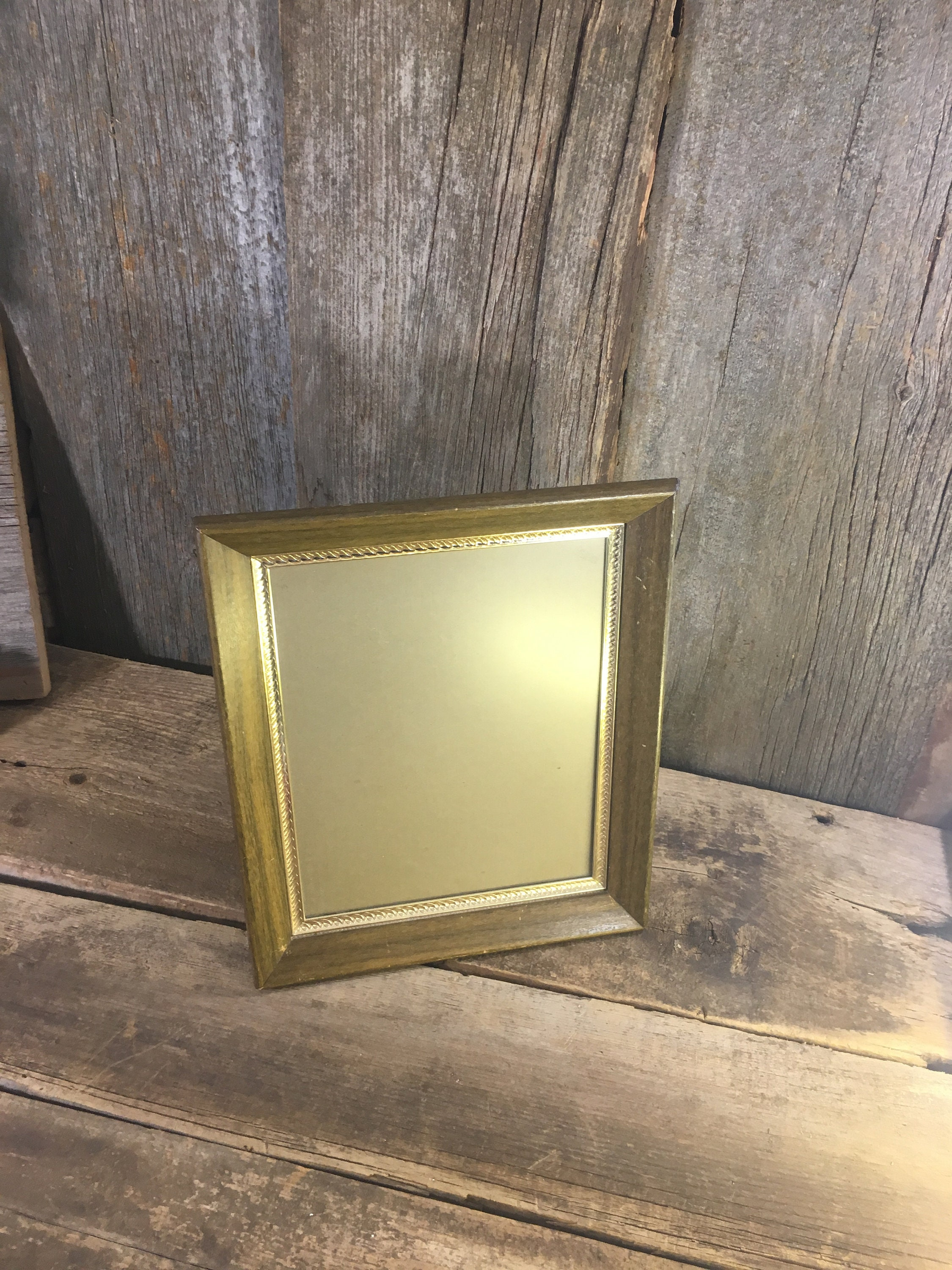 Vintage From The Mid Century Wood And Gold 8x10 Picture Frame