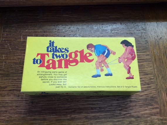 It takes Two to Tangle game, Baron/Scott game, risqué game maker, 1991 game, vintage games, hard to find games, crazy games