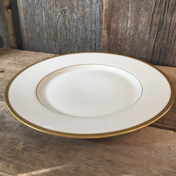 Franciscan China Wilshire Encanto Coupe dinner plate,vintage Wilshire Franciscan China pattern 1930's Franciscan China plate, gold rim plate