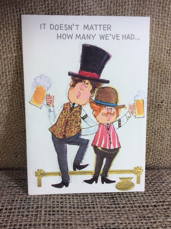 Vintage Hallmark card, vintage birthday card, Vintage Hallmark card for under 4.00 with shipping!!!  It doesn't matter how many we've had