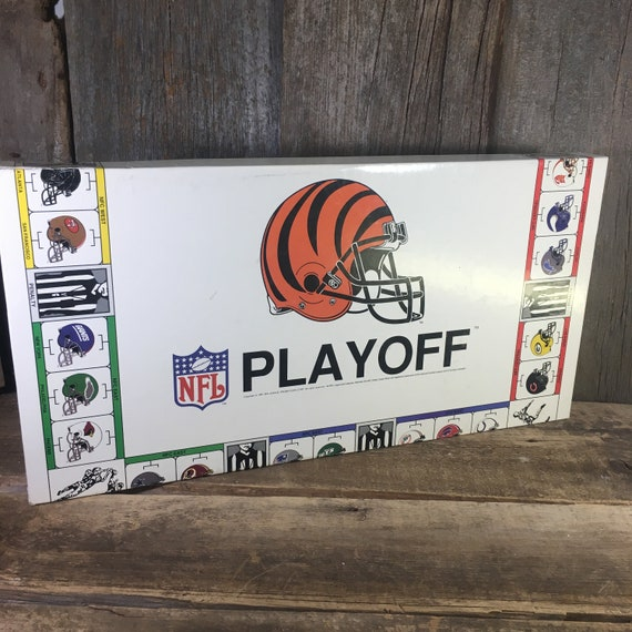 Vintage NFL Playoff board game, NFL board game from 1991, football board game, vintage game night, sports family fun, football playoff game