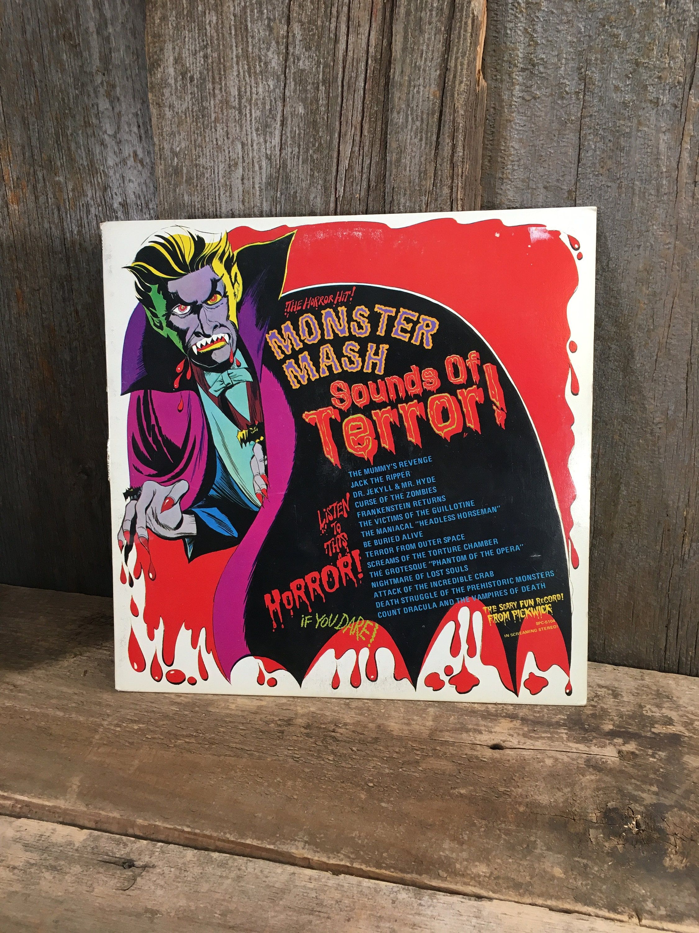 Vintage Album Monster Mash Sounds of Terror from 1974, super