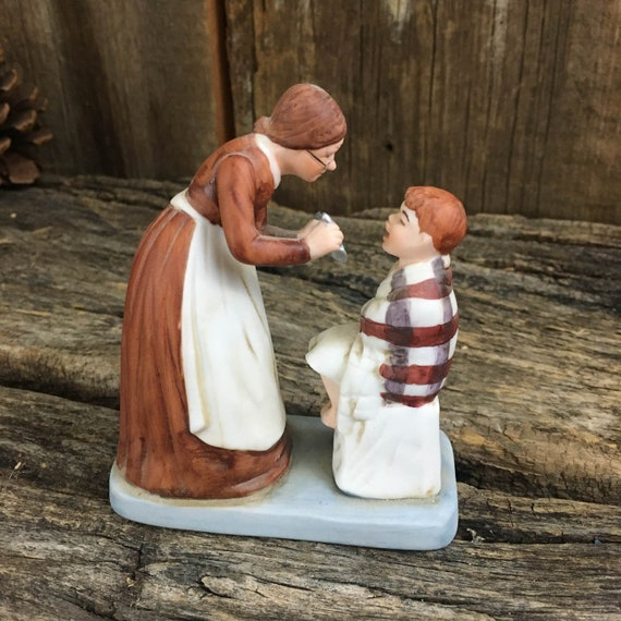 Norman Rockwell Medicine figurine, Norman Rockwell figurine, World of Norman Rockwell Danbury Mint Collection,Saturday Evening Post Rockwell