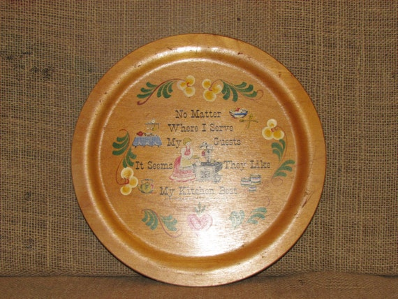 SUPER SALE Vintage Woodcroftery, woodcroftery plaque, vintage kitchen decor, my kitchen best, made in the usa, antique kitchen decor