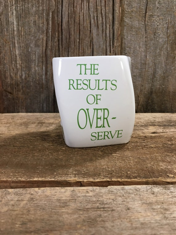 Vintage twisted square Tennis mug from golf gifts 1992, super cute twisted tennis coffe mug, great condition mug, the results of over serve