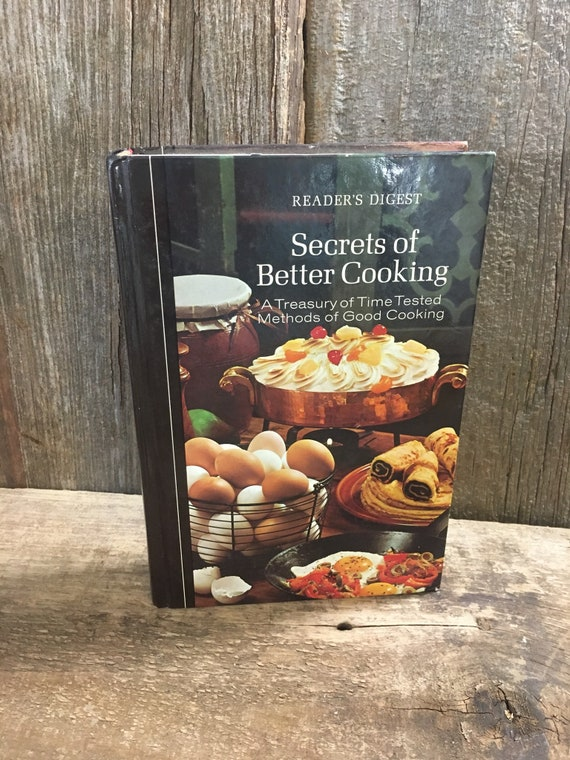 Vintage Readers Digest Secrets of Better Cooking cookbook, vintage cook book, vintage Readers Digest, cooking with Readers Digest,