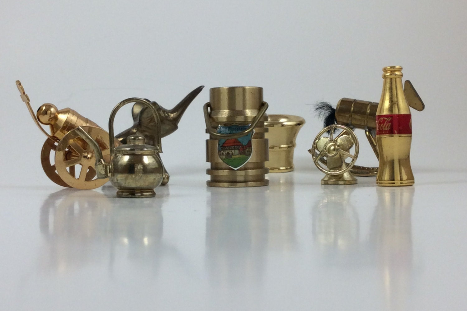 Dollhouse Miniatures Dollhouse Accessories Vintage Brass