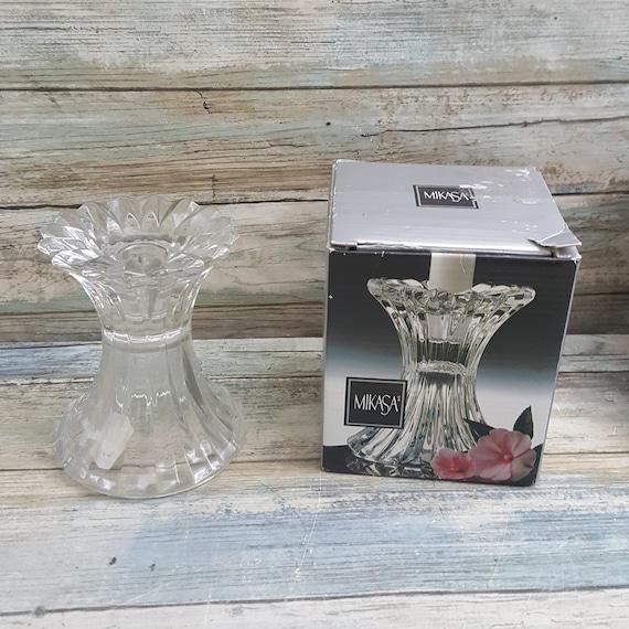 Mikasa Royal Suite candleholder, Mikasa Royal Suite QQ228/550 candleholder, Glass candleholder, candle holder from Mikasa