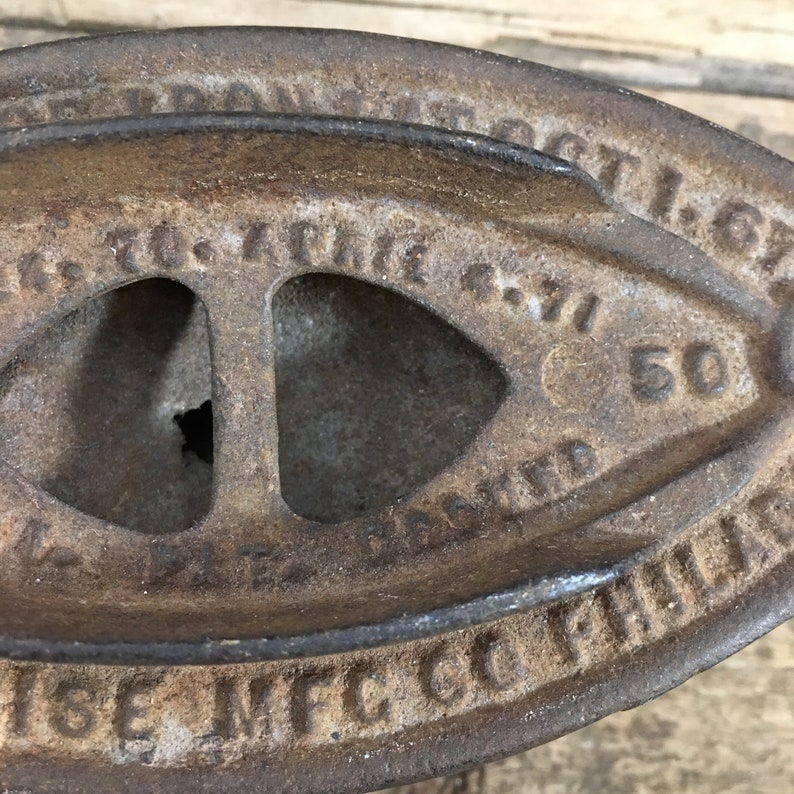 Enterprise Sad Iron late 1800/'s sad iron Antique sad iron Pat Oct 1 Enterprise MFG Philadelphia 50 Enterprise iron No 67