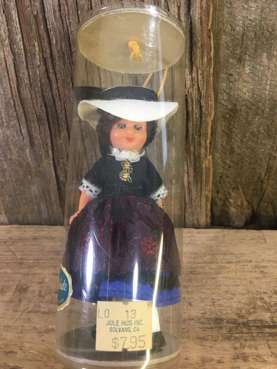"Vintag Goldschatz doll, 5"" vintage doll, made in Germany doll, Jule Hus solvang california, doll collectors"