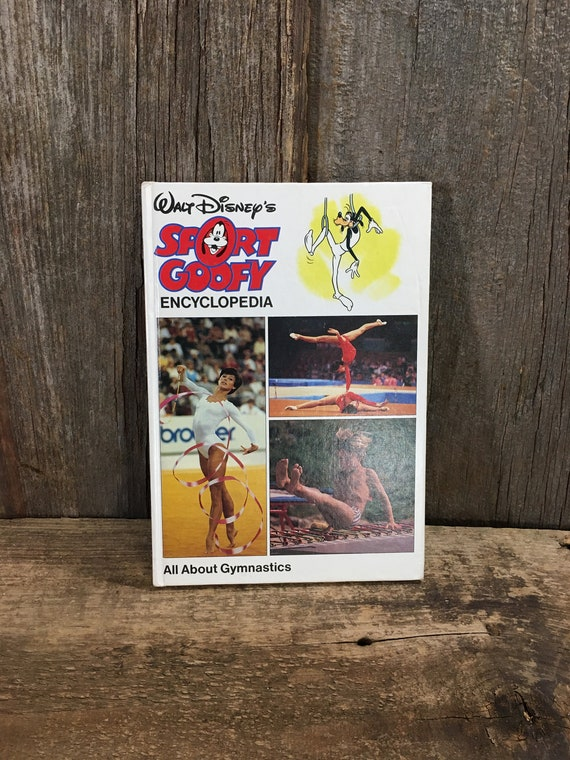Vintage Walt Disneys Sport Goofy Encyclopedia all about gymnastics from 1983, Disney collectible, missing number 9 in the series, here it is
