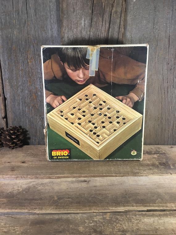 Vintage Brio Labyrintspel 31804, vintage fun and frustrating balance game, Vintage Labyrintspel,